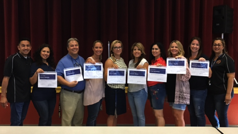 Teacher recognition at Coral Mountain Academy